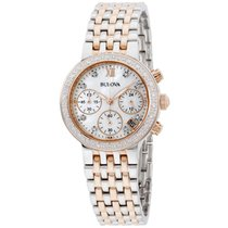 Bulova Women's Diamond 98r215 Rose Gold Stainless-steel...