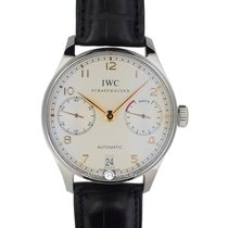 IWC IW500114 Portuguese7days Power Reserve Yellow Arabic Leather