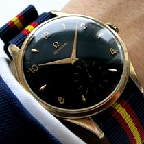 Omega Serviced Genuine Omega 38mm Oversize with black dial...