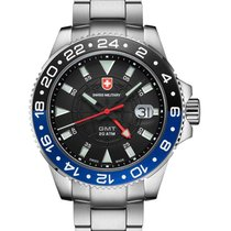 Swiss Military Gmt Swiss Quartz 42mm Watch 20atm 2nd Timezone...