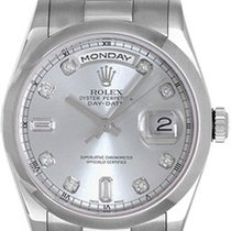 Rolex President Day-Date Men's 18K White Gold Watch 118209
