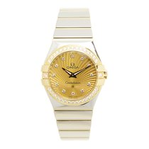 Omega Constellation Gold Steel Diamond Gold Quartz 123.25.27.6...