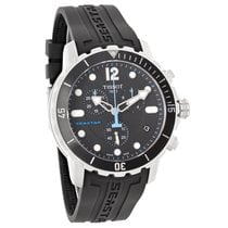 Tissot Seastar Mens Black Rubber Swiss Quartz Watch T066.417.1...