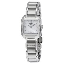 Tissot T-Wave Mother of Pearl Dial Diamond Stainless Steel...