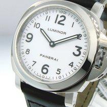 Panerai Unworn  Pam 114 Steel 44 Mm Luminor Base White Dial...