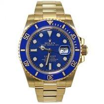 Rolex Submariner 116618LB Ceramic Blue 18k Yellow Gold