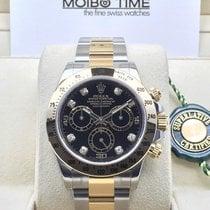 Rolex Daytona 116523 18ct Gold Steel Black Diamond Dial [NEW]