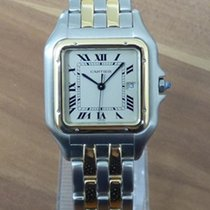 Cartier Panthere großes Modell Stahl/18k 750 Gold revisioniert