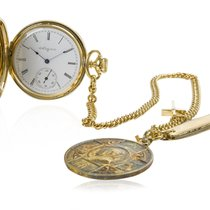 Elgin Vintage 1930s Pocket Watch 14K Gold