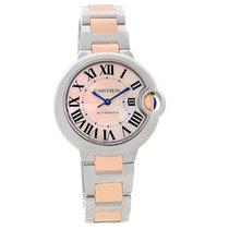 Cartier Ballon Bleu Midsize Ladies Steel Rose Gold Watch W6920070