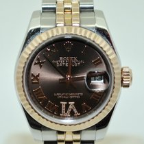 Rolex Datejust Rose Gold and Steel with Diamonds