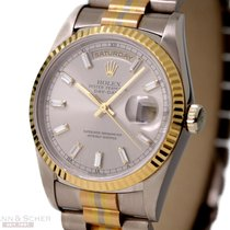 Rolex Day-Date Ref-18239 Tridor 18k Gold With Diamond Bagette...