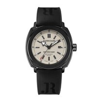 JeanRichard Terrascope Black Stainless Steel Beige Dial