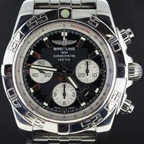 Breitling Chronomat 44MM Chronograph Black Dial Full Set MINT,...