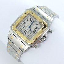 Cartier Santos Galbee Chronograph Herren Uhr Stahl/gold Box...