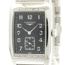 Longines Polished Longines Bellearti Steel Quartz Mens Watch...