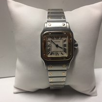 Cartier Santos galbee steel and gold for ladies