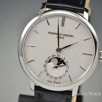 Frederique Constant Manufacture Slimline Moonphase Silver Dial...