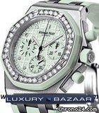 Audemars Piguet Royal Oak Offshore Ladies (SS-Diamonds / Silver / Rubber)