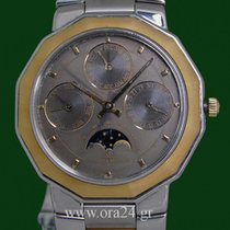 Baume & Mercier Riviera Calendar Moonphase 18k Gold Steel
