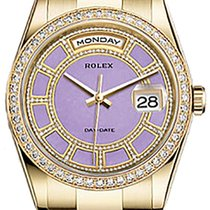 Rolex Day-Date 36 118348 Carousel of Lavender Jade Diamond...