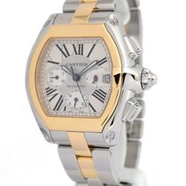 Cartier Roadster Chronograph 18K Gold & Steel Automatic...