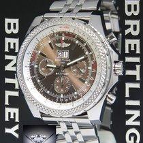 Breitling Bentley Steel Havana Brown Dial 48mm Mens Watch...