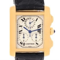 Cartier Tank Francaise Chronoflex 18k Yellow Gold Watch W5000556