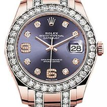Rolex Pearlmaster 39 86285 Aubergine Diamond Set Bezel Diamond...