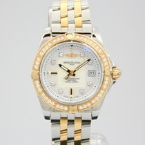 Breitling Galactic 32  Gold/Stahl Diamant