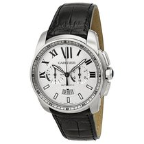 Cartier Calibre de Cartier Black Leather Automatic Mens Watch...