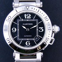 Cartier Pasha Seatimer W31077M7 Stainless Steel Black with Box