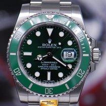"Rolex Oyster Submariner ""green Hulk"" 40mm 116610lv (mint)"