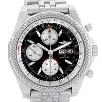 Breitling Bentley Motors Gt Black Dial Steel Mens Watch A13362