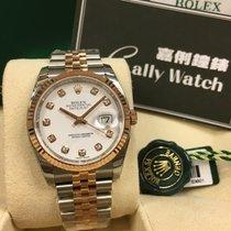 Rolex Cally - 116231 G 36mm Datejust RG & Steel White...