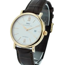 IWC IW356504 Portofino Automatic in Rose Gold - On Brown...