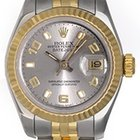 Rolex Ladies 2-Tone Datejust Watch 179173 Silver Dial