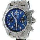 Breitling Windrider Chronomat Blackbird Rare Blue Dial