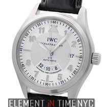 IWC Pilot Collection Pilot Spitfire UTC Steel 39mm Silver Dial...