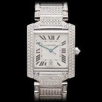 Cartier Tank Francaise 18k White Gold Unisex 2366