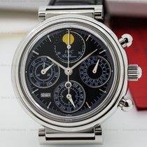 IWC Da Vinci Perpetual Chronograph Black SS / Alligator