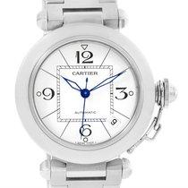 Cartier Pasha C Medium Automatic White Dial Watch W31074m7 Box...
