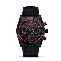 Tudor FASTRIDER BLACK SHIELD Automatic Red Chrono Leather...