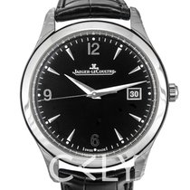 Jaeger-LeCoultre Master Control Date Stainless Steel Black/Lea...
