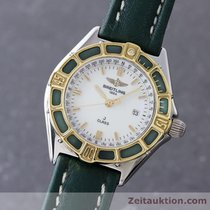 Breitling Lady J Class Stahl / Gold Damenuhr Top D52063