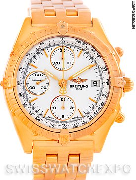 Breitling Chronomat 18k Rose Gold Watch Limited Edition H13047