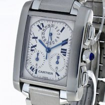 Cartier Tank Francaise Chronoflex Chronograph Quarz Stahl an...