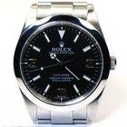 Rolex Explorer 214270 Black Dial 39mm Bezel Engraved w/ Box