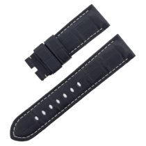 Panerai PAM2422 / Black Cowhide Lugs - 24 mm, buckle - 22 mm...
