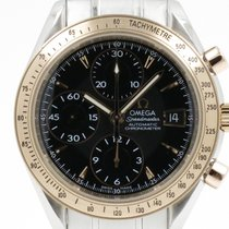 "Omega ""SpeedMaster date Chronograph"" 18K pinkgold/stee..."
